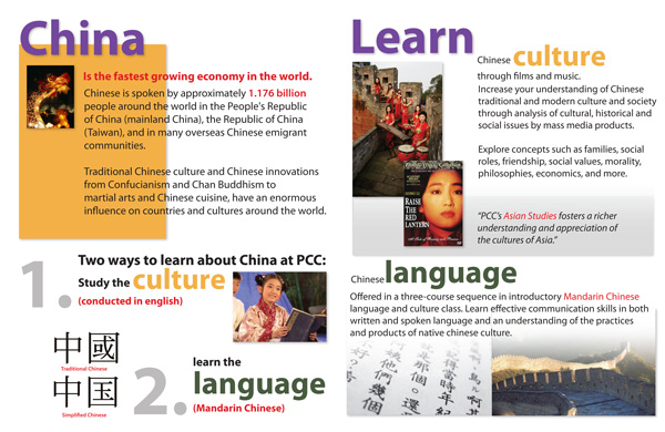 Promotional Poster for Chinese Classes